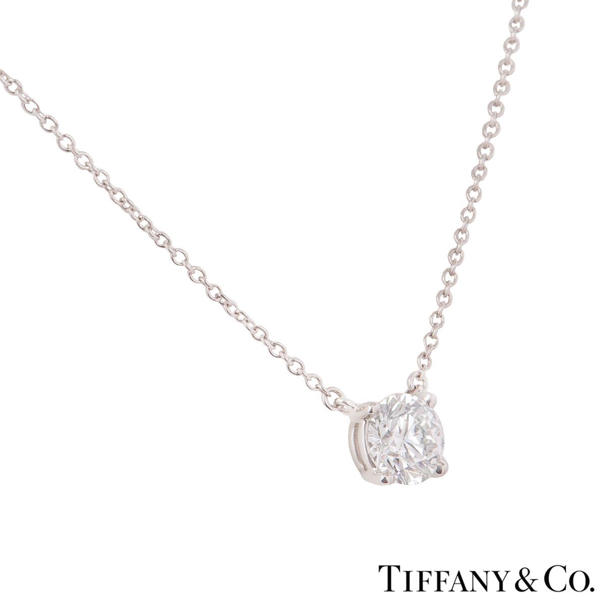 Tiffany & Co. Platinum Diamond Pendant 0.94ct E/VVS2